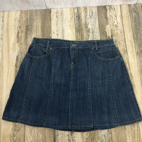 l.a. blues Dresses & Skirts - L.A. Blues Pleated Jean Skirt 18W